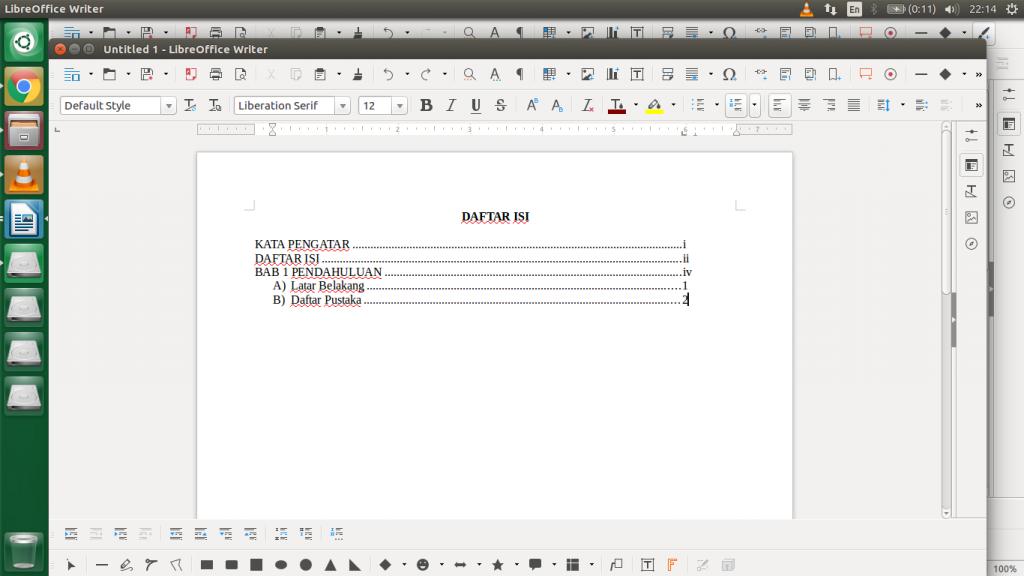 cara menulis daftar isi - ulangi poin 2 sampai 4